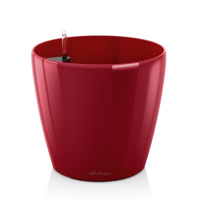 16107 Кашпо LECHUZA Классико 50 LS Красное с системой полива и съемным горшком