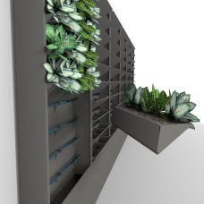 Универсальный фитомодуль CyberGrowWall для интерьерных систем вертикального озеленения